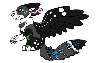 Winged Wolf adoptable -CLOSED- by OtterstepOfMoonclan