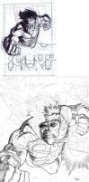 Invincible 77 cover process by RyanOttley