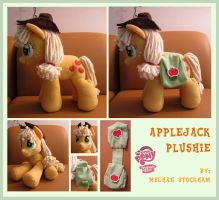 Applejack Plushie 2.0 by nooby-banana