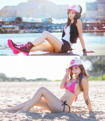 Pokemon - Hilda / Touko side by side by beethy