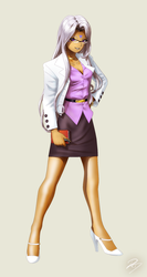 Office lady Urd by EastCoastCanuck