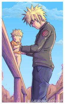 Naruto: Dont Cry Daddy's Here by lauraneato