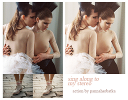 action : sing along to my stereo by PannaHerbatka