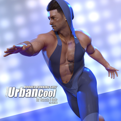 Urban Cool - Hooded Running Suit G8M by Kaos3d