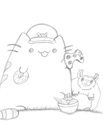 Pusheen Likes her Squishables by Th3AntiGuardian