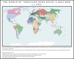 Thousand Week Reich mod - Official World Map by AP246