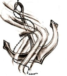 Anchor Tattoo by fifthchukka