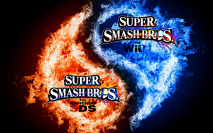 Super Smash Bros. Wii U/3DS Logo Wallpaper #13 by TheWolfBunny