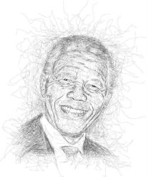 Nelson Mandela in Ngawor Drawing by viqh