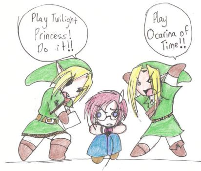 TP Link, OOT Link and ME by Blackarmoredsage
