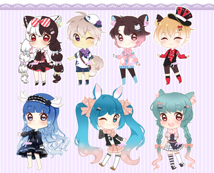 Cheap Chibi Aesthetic Adoptable Auction (Open) by pastelaine-art