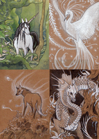 Patreon sketch cards by thedancingemu