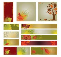 Autumn banner background by vectorbackgrounds
