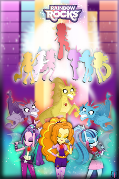 Rainbow Rocks Movie Poster (fan made) by TheShadowStone