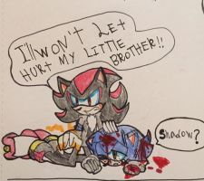 Don't Hurt my little brother!!! You Deadly six!!! by knockoutandsonic