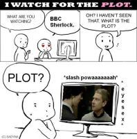 I watch it for the plot MEME by MismeHellawes
