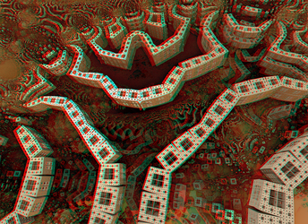 Anatomy of a cyber-brain Anaglyph 3D Stereoscopy by Osipenkov