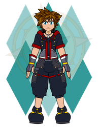 Sora (Kingdom Hearts) Base by Dragon-FangX