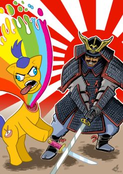 Ultimate Pony Samurai Battle by curtsibling