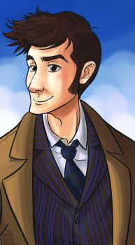 10th Doctor - Lazy Day by ellensama