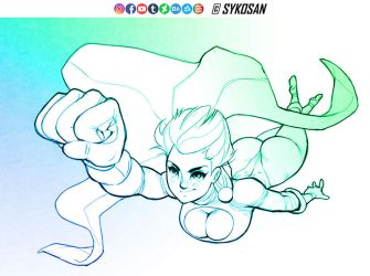 Power Girl by sykosan