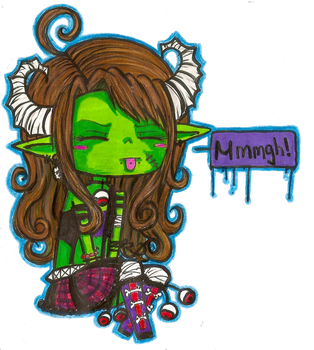.::Sour Face::. by RainbowZombification