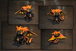 Lava Dragon by KirstenBerryCrafts