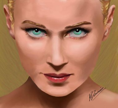 Portrait of a blond by artbydarryl