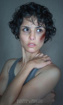 Ellen Ripley makeup test by AngelaBermudez