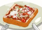 The Shrunken Girl Pizza Toast by hidesys