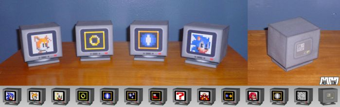 Sonic 2 Item Boxes Assembled by billybob884