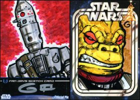 SWFD Sketches: IG88 and Bossk by grantgoboom