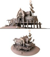 Boat House Model by dippydude