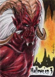 Hallowe'en 3 Sketch Card - Israel Arteaga 2 by Pernastudios