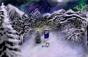 Christmas TARDIS by Doctorwithaspoon