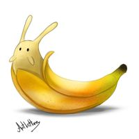 creature doodle #7 banana slug by ArtKitt-Creations