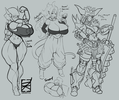 August 2018 Patreon sketches 2 by DKDevil
