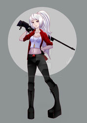 Girl with the rifle by louverusee