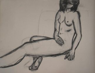 Art Class Drawing - nude model by anime-realm