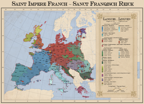 Languages ca. 1500 in the Holy Frankish Empire by Tonio103