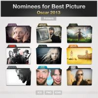 Oscar 2013 Movies Folders by limav