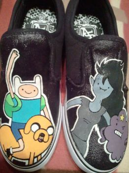 Adventure Time Shoe Commission by Miss-Melis