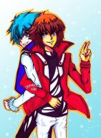 Judai and Johan!! by Yuri-chan24