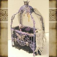 Mini Gothic Baby Bed by grimdeva