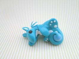 Blue Dragon with an Egg by KriannaCrafts