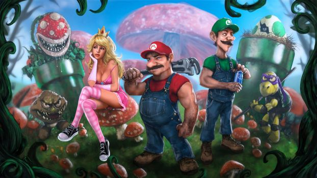 Mario Bros. by skribbliX