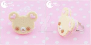 Sweet cookie bear Ring by CuteMoonbunny