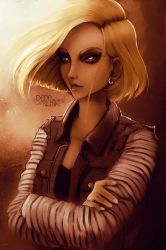 Fan-art Friday: Draw this Again - Android 18 by Kaizoku-hime