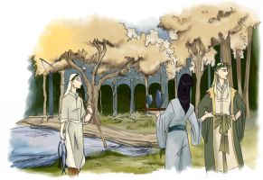 flimsy Noldor elves... by greenapplefreak