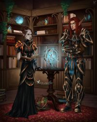 Commission: Casianna and Aratrox by barn-swallow